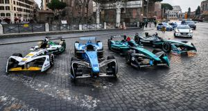 Formula E race in Rome