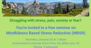 Free Seminar on Mindfulness Based Stress Reduction (MBSR) - Thursday, January 25