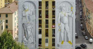 Street artist Blu strikes again in Rome