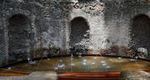 Water garden on Rome's Palatine Hill comes back to life after 300 years