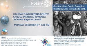Rotary Club Rome International Carols, Dinner & Tombola