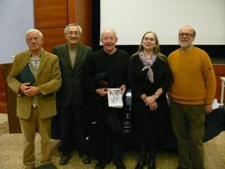 Michael Sullivan, centre, at Rome's John Cabot University.