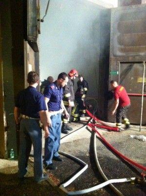 Fire at Cinecittà