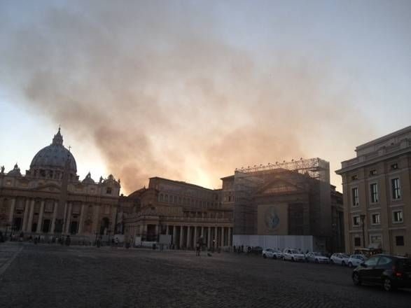 Bushfire in northern Rome