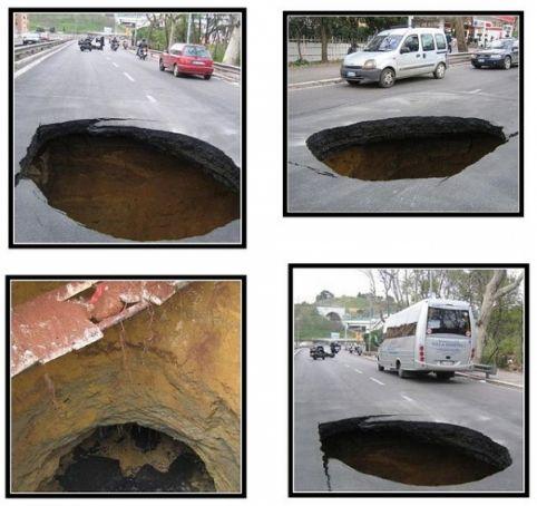 Rome's giant potholes