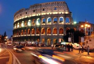 Safety buffer zone around Rome's Colosseum