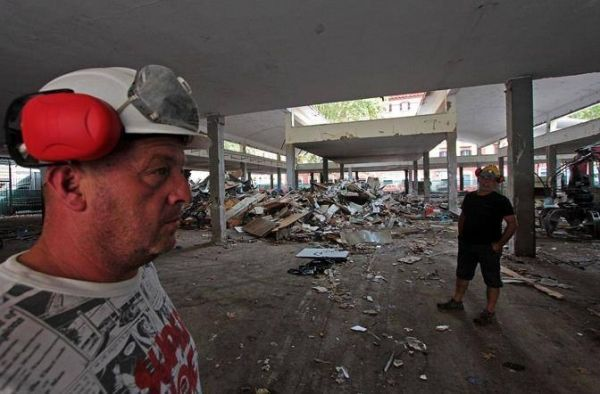 Rome's old Testaccio market demolished