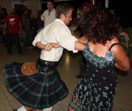 Scottish dancing in Rome