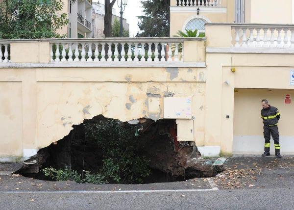 Giant potholes in Rome