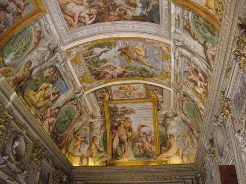 Carracci restoration in Rome's Palazzo Farnese