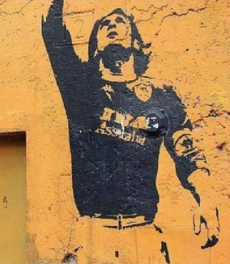 Rome's Totti mural defaced