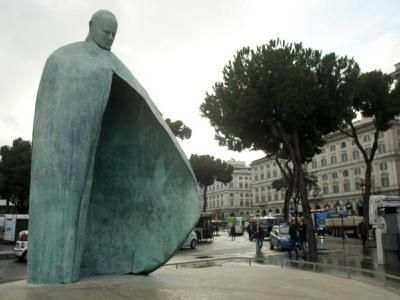 Rome unveils remake of John Paul II statue
