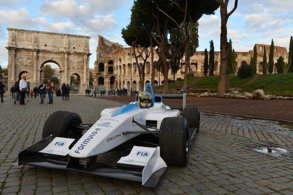 Formula E race in Rome in 2014