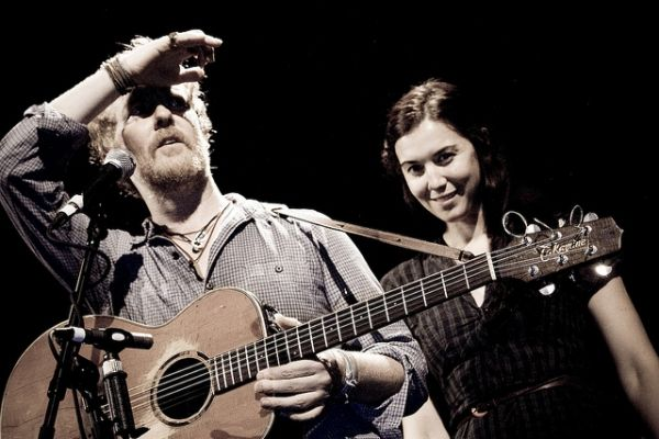 Glen Hansard and Lisa Hannigan in Rome