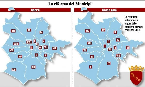 Rome to reduce number of municipi