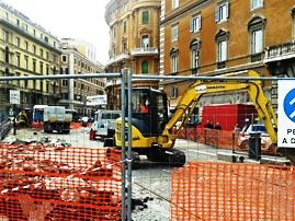 Largo Argentina bus stops moved