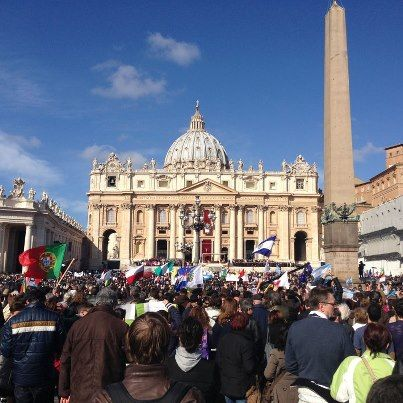 St Peter's shines for Pope Francis