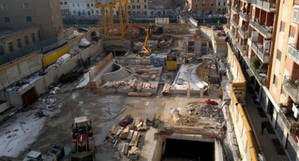 Work on Metro C continues from Colosseum to S. Giovanni