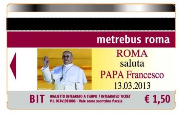 Pope Francis bus tickets in Rome