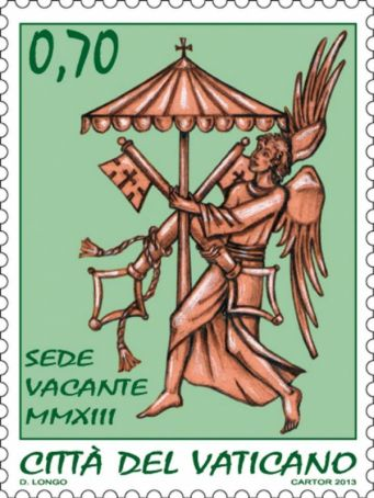 Sede vacante stamps and coins