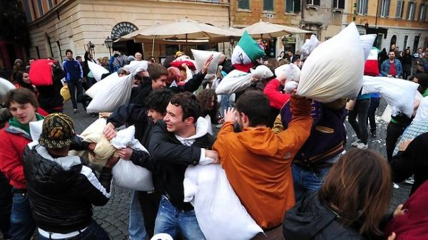 Rome Pillow Fight