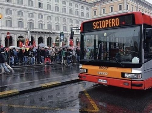 Public transport strikes in Rome