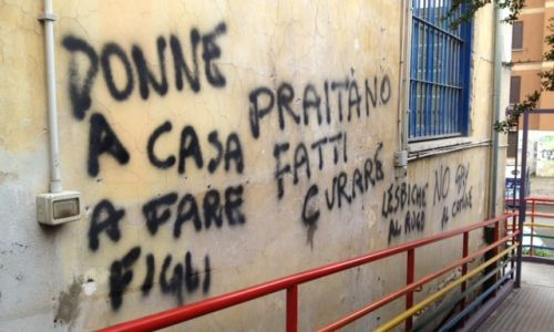 Anti-gay graffiti in Rome