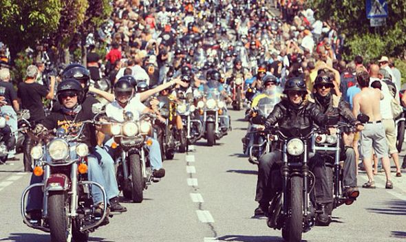 Harley Davidson celebrations in Rome