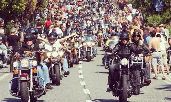 Harley Davidson celebrations in Rome
