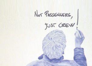 Not passengers, just crew!