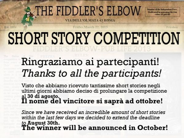 Short story competition extended