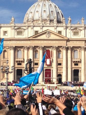 Argentina - Italy football match for Pope Francis
