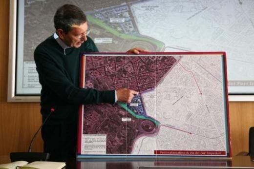 Launch of new traffic plan for Colosseum