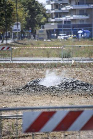 Geyser erupting near Fiumicino
