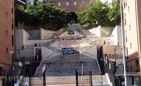 Rome steps transformed by mural
