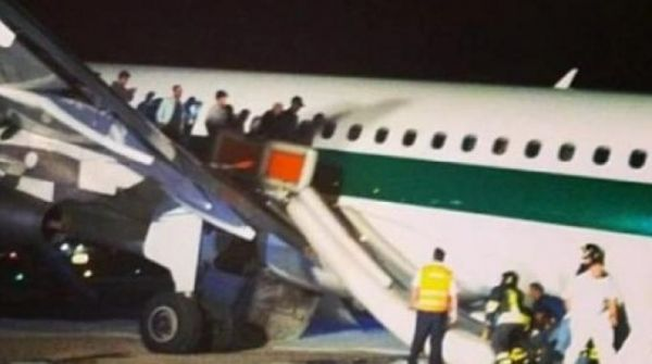 Emergency landing at Rome's Fiumicino airport