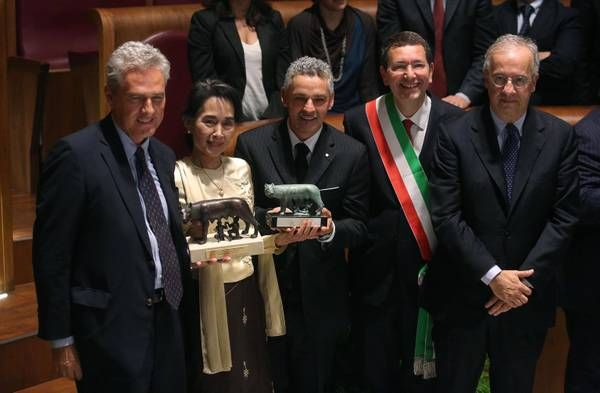 Aung San Suu Kyi becomes citizen of Rome