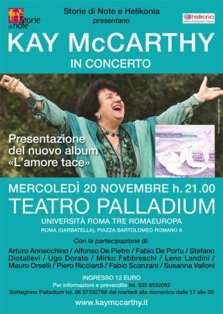 Kay McCarthy concert in Rome