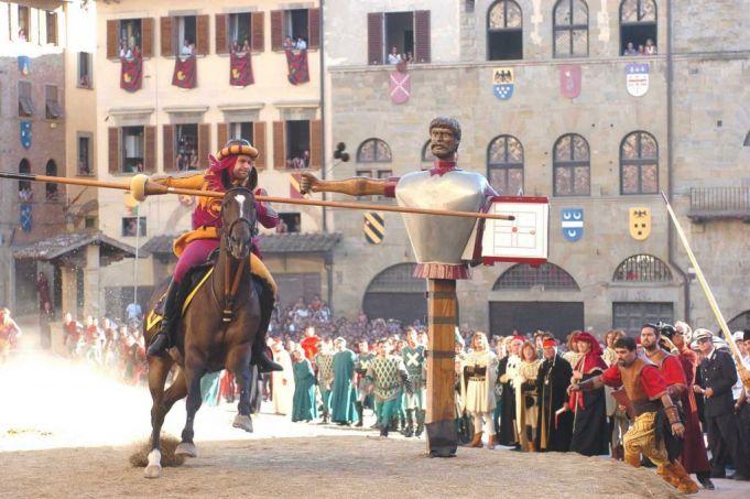 Jousting in Arezzo