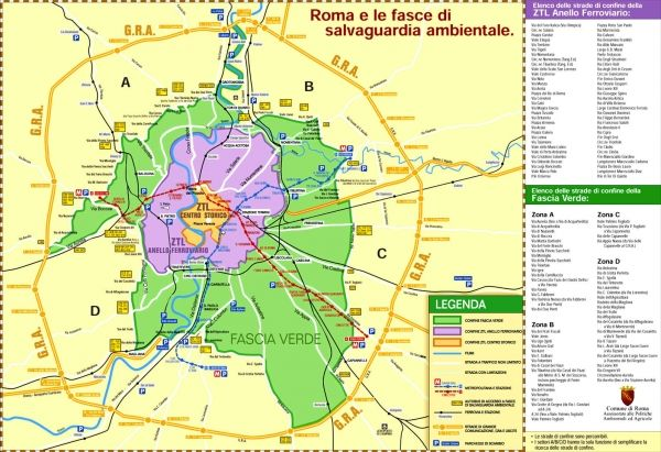 Traffic restrictions in Rome
