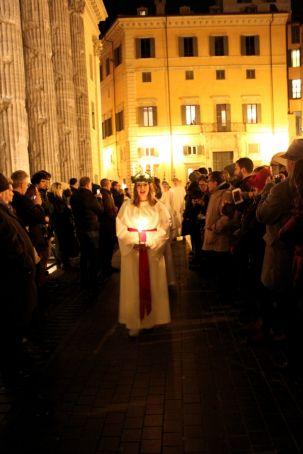 Sweden celebrates S. Lucia in Rome
