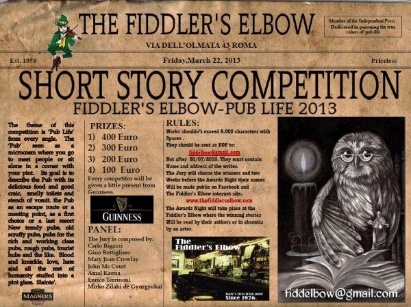 Fiddler's Elbow short story winners