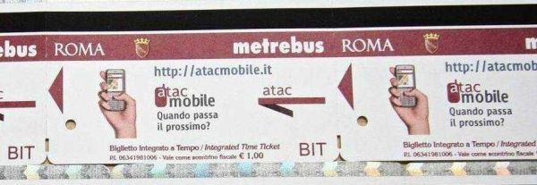 Buy Rome bus tickets by mobile phone