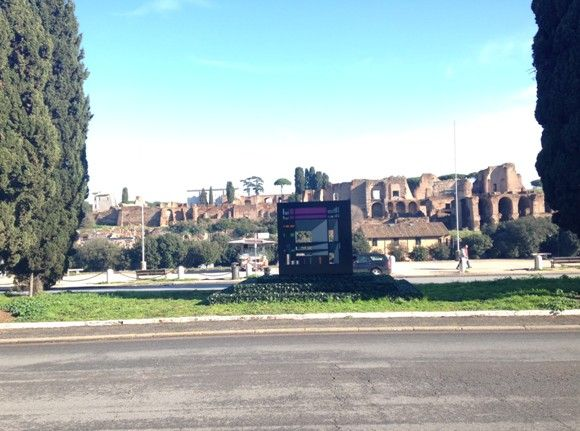 Modern sculpture at Circus Maximus raises eyebrows