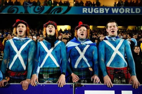 Italy-Scotland rugby game in Rome