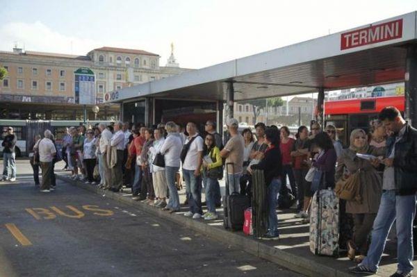 Public transport strike in Rome
