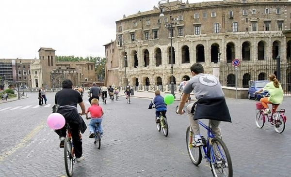 Rome's traffic-free Sunday changed