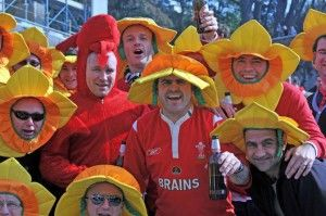 Welsh rugby fans in Rome. Ph. Corriere della Sera.