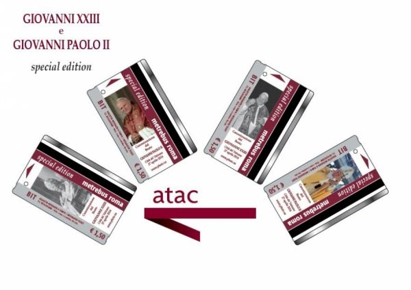 Rome bus tickets for popes' canonisation