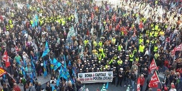 Rome on strike